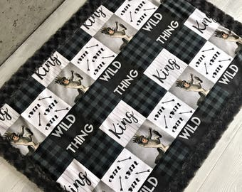 Quilt Where the Wild Things Are Minky Baby Blanket, Fitted Crib Sheet & Changing Pad Cover Baby/Toddler