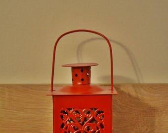 10%OFF Small vintage red Moroccan lantern / lanterns