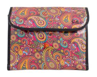 Retro Cosmetic Flip Hanging Bag Bathroom Storage Accessory Case