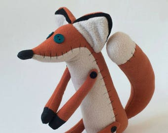 Fox. Le Petit Prince. The Little Prince. Fox from cartoon Little Prince. Stuffed toy.  Child friendly toys.