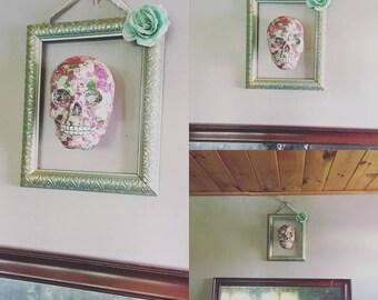 3D Floral Skull and Frame