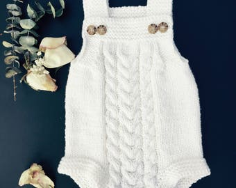 Knitted Baby Bodysuit // Soft Handmade Romper