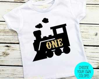 First Birthday, First Birthday Boy, One, Train, Choo Choo Birthday, Train Birthday,  Smash Cake, 1st Birthday, Birthday Shirt, Train Shirt