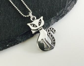 Egyptian cat necklace , cat jewelry , cat jewellery , Egypt , cat pendant , cute cat , cat lady gift  , cat charms , kawaii cats ,