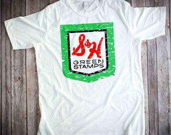 S&H Green Stamps Shirt - S and H Green Stamps tshirt  - Distressed logo