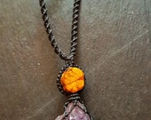 Ayahuasca Amethyst Crystal Necklace |  Third Eye Chakra | Crown Chakra | Psychic Attack | Meditation | Stress | Communication