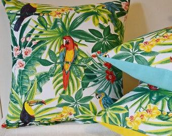 [Tropical] Cushion cover 40 x 40 cm Toucan/Parrot/Jungle/exotic