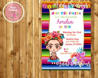Frida Kahlo Invitations, Frida Invitations, Invitaciones Frida Kahlo, Invitaciones Frida, Fiesta Frida, Frida Party