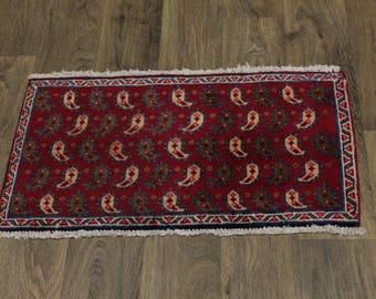 Nice Allover S Antique Handmade Bidjar Persian Area Rug Oriental Carpet 1ʹ6X2ʹ8