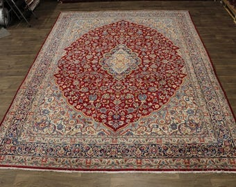 Exquisite Design Handmade Vintage Kerman Persian Rug Oriental Area Carpet 10X13