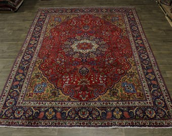 Fabulous Handmade S Antique Tabriz Persian Wool Rug Oriental Area Carpet 10X13