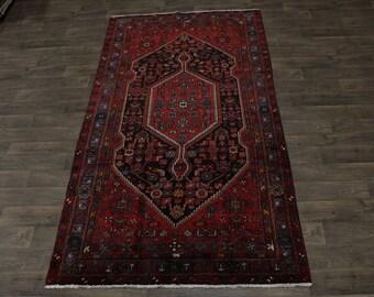 Great Shape Rare Size Tribal Hamedan Persian Rug Oriental Area Carpet Sale 6X10