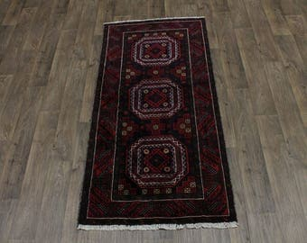 3X7 Beautiful Unusual Tribal Balouch Persian Rug Oriental Area Carpet 3'2X6'6