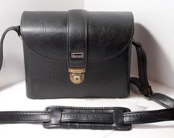 Marsand Hard Case Vintage 12'' Black Shoulder Strap Key for SLR Cameras