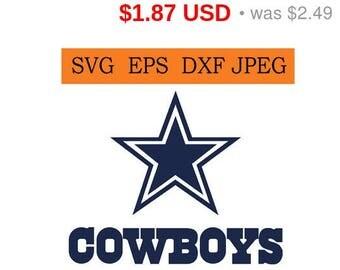 Sale 25%  -  Dallas Cowboys logo in SVG / Eps / Dxf / Jpg files INSTANT DOWNLOAD!