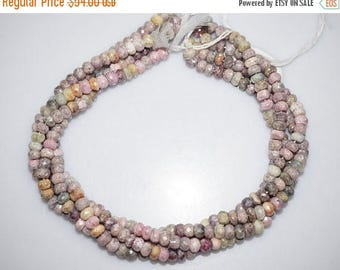 50% OFF Silverite Sapphire AB Coated Faceted Rondelle Beads , Silverite Sapphire Roundel , 6.50 mm - MC546