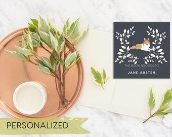 Dog Bookplates - Bookplates - Printable Bookplates - Personalized Bookplates
