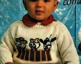 Babies Disney Jumper Knitting Pattern - sizes 86 / 92 or 18 to 24 months pdf