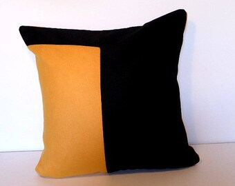 POLIAKOFF 2 pillow cover, light saffron yellow and black 40 x 40