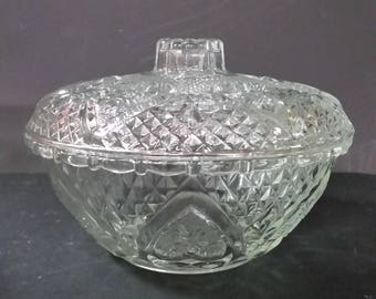 FNG  Indonesia clear crystal lidded candy dish