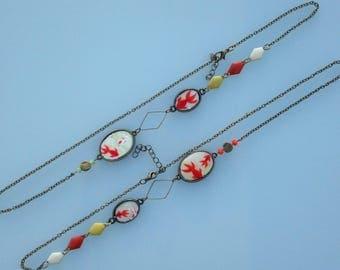 Headband - Head necklace - head paperweight-Japanese koi fish charm.