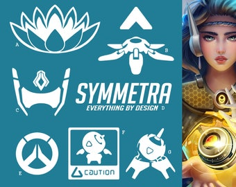 Symmetra Overwatch Support Hero | Vinyl Decal Sticker, Overwatch, Blizzard, Gaming, 17 Colors, Oracle Long Lasting | SneakyStickers