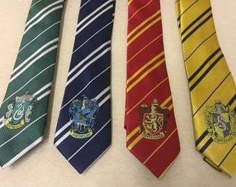 Harry Potter Necktie - Choose any house Tie - Gryffindor Slytherin Ravenclaw Hufflepuff - free first class
