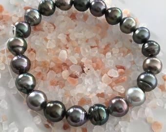 Tahitian pearl bracelet /Tahitian bracelet/Tahitian stretch bracelet /Tahitian pearls/pearl bracelet /Tahitian jewellery/Rikitea pearls