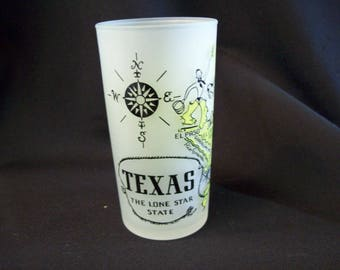 1950's Texas Souvenir Tumbler by Hazel Atlas Glass Company