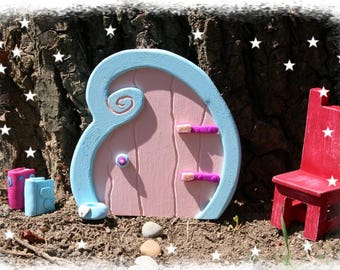 Wooden door for the tooth fairy tooth - Decoration inside outside - original gift
