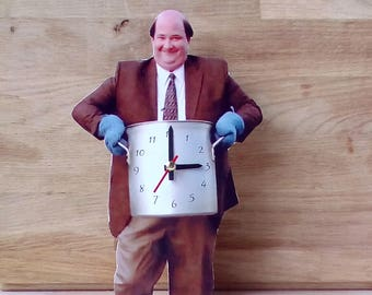 Kevin Malone table clock, Home decor, Original clock, Hand made clock, design clock, The Office Kevin Malone