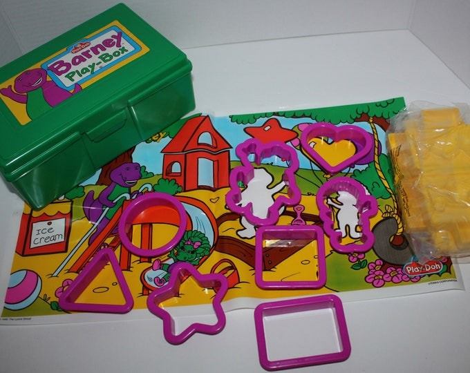 Vintage Barney the Purple Dinosaur Play-Doh Box Lot 1992