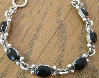 Onyx Sterling Silver Bracelet