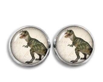 T Rex Stud Earrings Dinosaur Earrings 12mm T Rex Stud earrings Dinosaur Jewelry