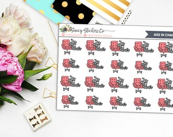 Ass in Chair Work Writing Planner Stickers | for use with Erin Condren Lifeplanner™, Happy Planner