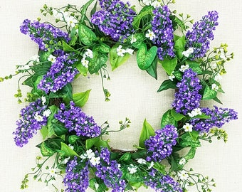 "Lavender Shell Wreath ,Purple, cream, beauty, 20"""
