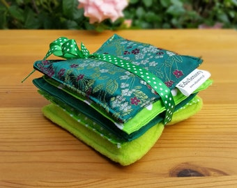 Sensory Bean Bags set of 5 GREEN bean bags