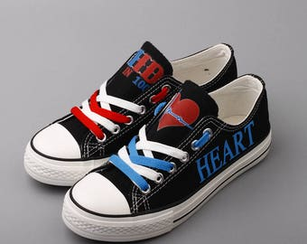 CHD Warrior Heart Mom Custom Shoes Congenital Heart Defect Womens Shoes 1 in 100