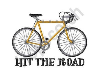 Bicycle - Machine Embroidery Design, Hit the Road