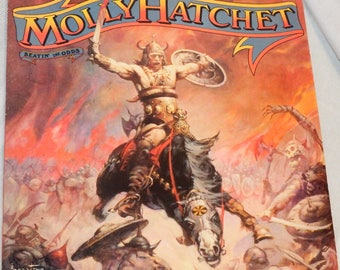 Molly Hatchet, Beatin the Odds vinyl LP, 1980 Epic Records