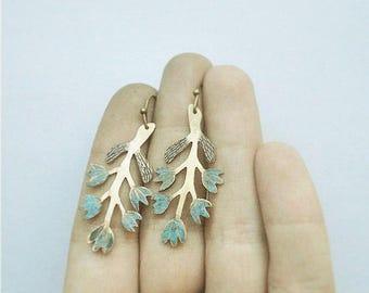 Blue  harebell  earings