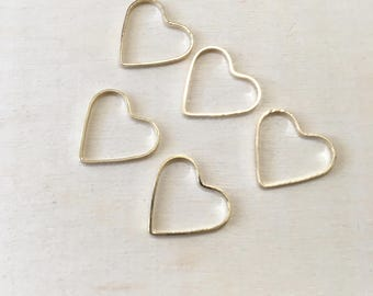 Hearts Stitch Markers Set of 5  | Snagless