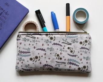 Pencil case/zipper pouch/back to school/pencil pouch/cotton/cuciricucishop/