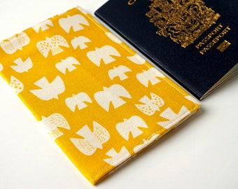 AMBER Travel Bird Passport Cover, Passport Case, Passport Holder, Passport Protector, Fabric Cover, Passport Case. Passport