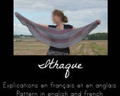 Explications tricot du châle Ithaque / Knitting Pattern : shawl Ithaque