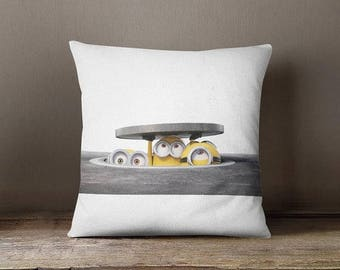 HOT SALE Minion Couch pillow, minion accent pillow, printed cushion cover cute throw pillow kids room pillow kids pillow gift for girls and