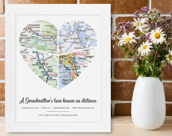 Personalized Grandma Gift Great Christmas Wedding Birthday Present Mothers Day from Granddaughter Grandson Grandkid Unique Rustic Home Decor