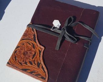 Western Floral Tooled Journal
