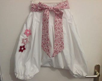 White Sarouel with its liberty-style flower belt