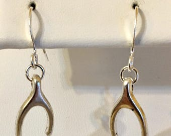USA Only 1.00 Shipping Any Quantity!!!   Wishbone Earrings    Great Bridesmaid Gifts